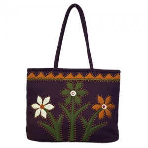 Attractive violet bags with flower and branches