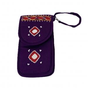 Cell Phone Pouch Shoulder String - Violet