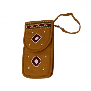 Cell Phone Pouch Shoulder String - Mustard