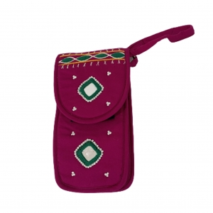 Cell Phone Pouch Shoulder String - Pink