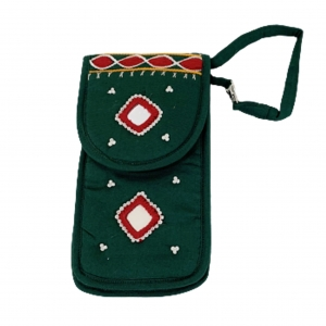 Cell Phone Pouch Shoulder String - Green